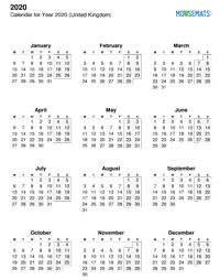 Calendar Mouse Mat - Annual Calendar - Portrait Thumbnail