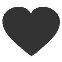 Pointed Heart Shape Icon